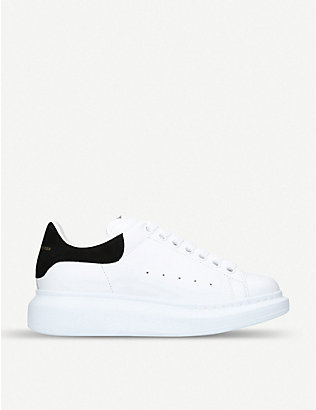 ALEXANDER MCQUEEN: Runway leather and suede platform trainers