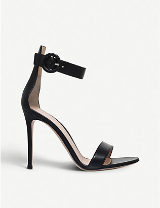 GIANVITO ROSSI: Portofino leather sandals