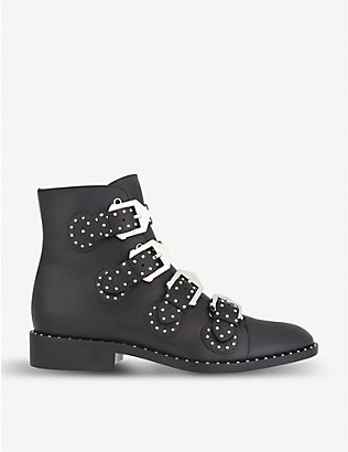 GIVENCHY: Prue leather ankle boots