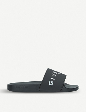 GIVENCHY Logo-detail rubber sliders