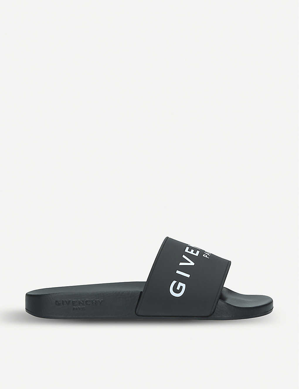 GIVENCHY: Logo-detail rubber sliders