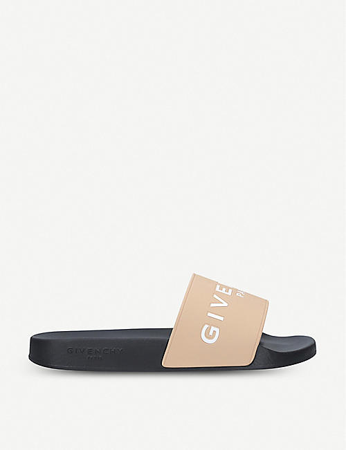 cabd6258257c GIVENCHY Logo-detail rubber sliders
