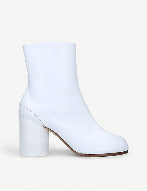 MAISON MARGIELA: Tabi split-toe leather ankle boots