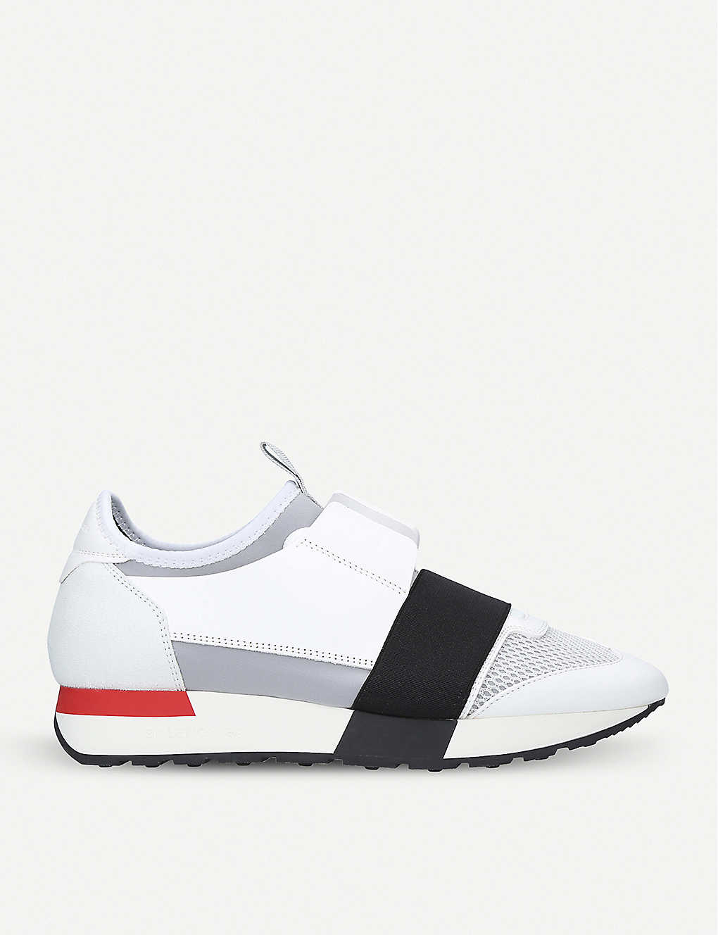 Balenciaga Shoes Race Runners mesh, leather and knitted low-top trainers