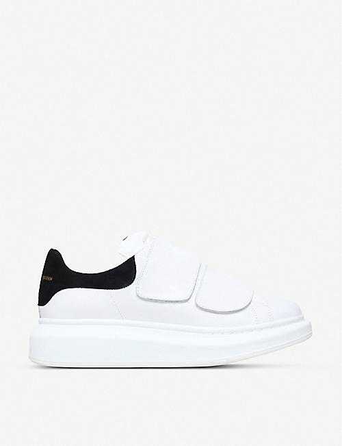 ALEXANDER MCQUEEN Runway leather platform trainers