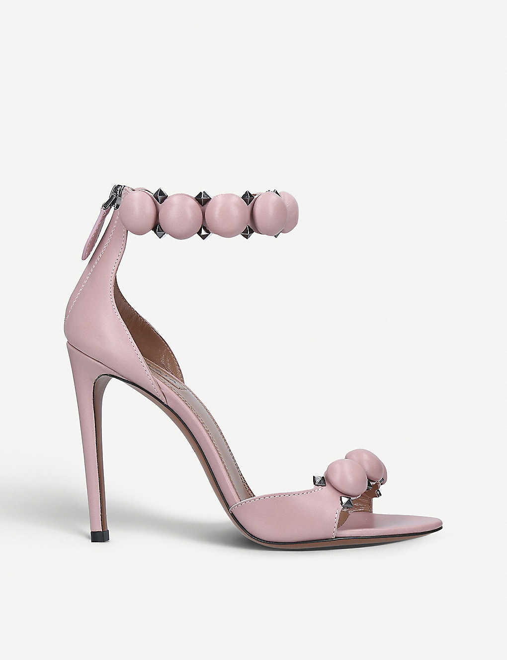 AZZEDINE ALAIA: Bombe 110 spike-embellished leather sandals