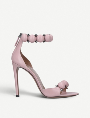 AZZEDINE ALAIA Bombe 110 spike-embellished leather sandals