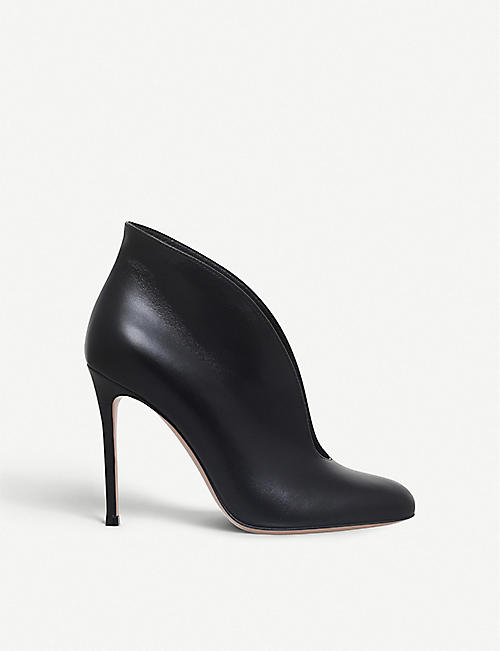 GIANVITO ROSSI: Vamp leather booties