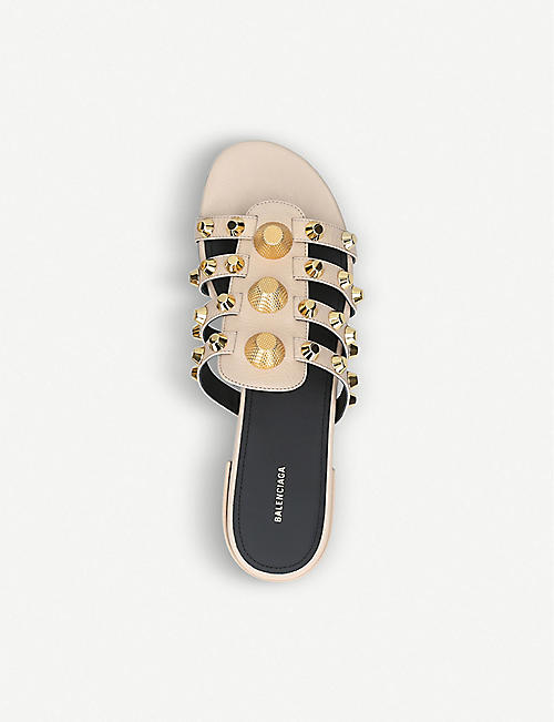 BALENCIAGA Studded leather sliders
