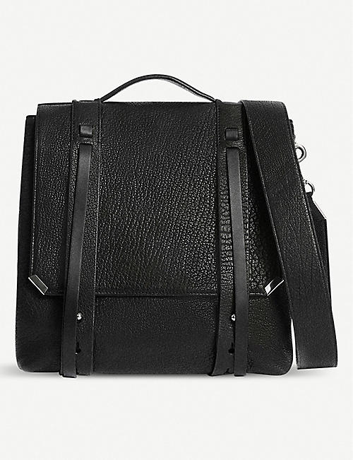 aad40c4658 ALLSAINTS Vincent grained leather backpack