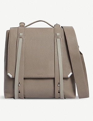 ALLSAINTS Vincent grained leather backpack