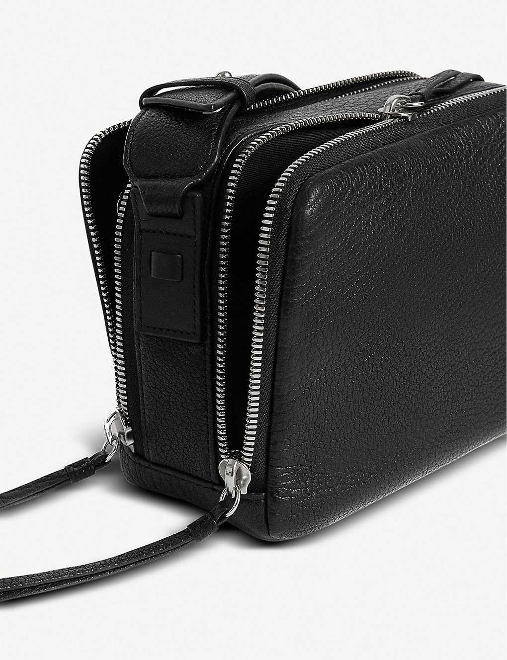 2ce12c8ab ALLSAINTS - Vincent grained leather crossbody bag | Selfridges.com