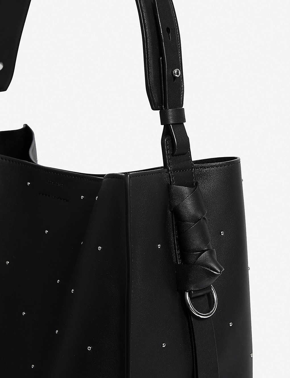 c1fc0930b1ec7 ALLSAINTS - Kathi North South small leather tote bag | Selfridges.com