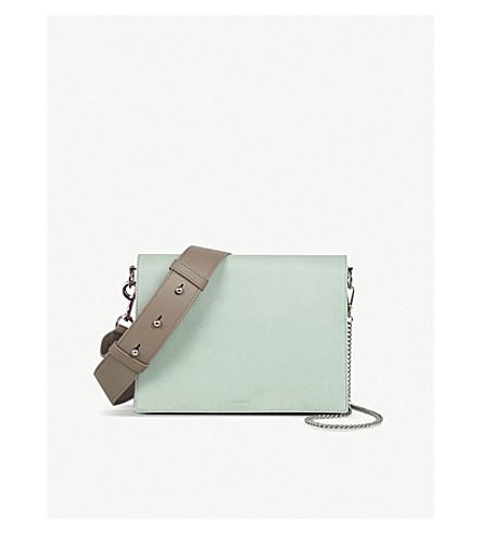 c8672baa49a7 ALLSAINTS Zep leather shoulder bag (Mint+green