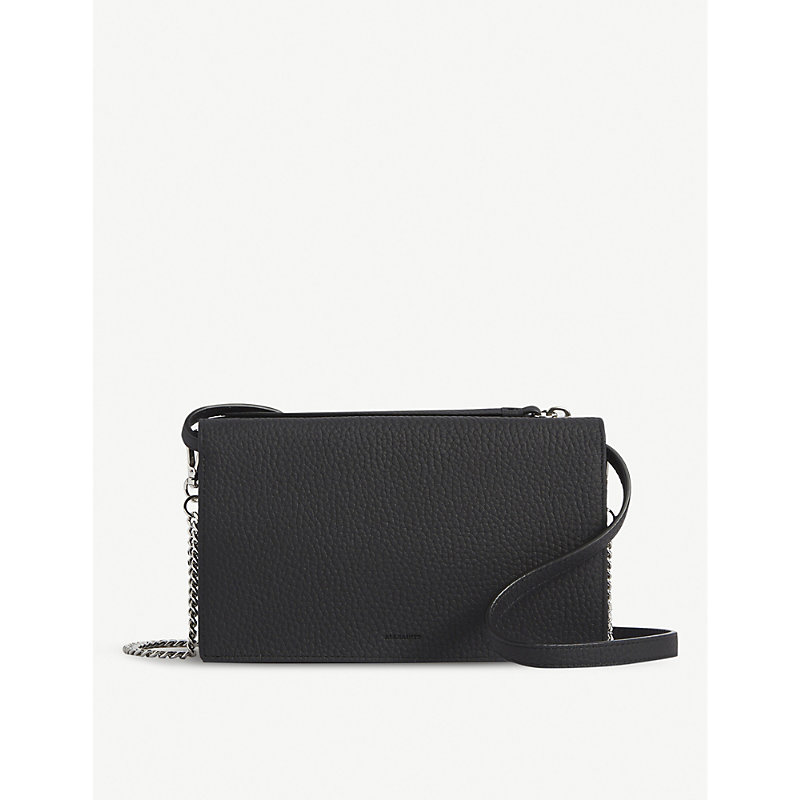 Allsaints FETCH GRAINED-LEATHER CROSS-BODY BAG