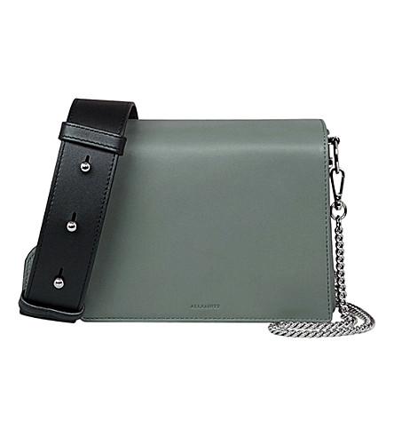 a209dc07d5d1 ALLSAINTS Zep Lea leather shoulder bag (Light+slate+bl