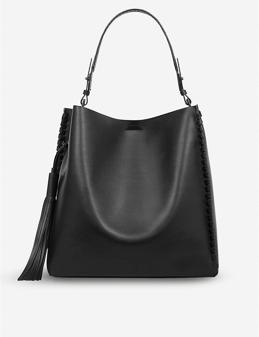 45c415d89c6 ALLSAINTS - Kepi North South leather tote | Selfridges.com