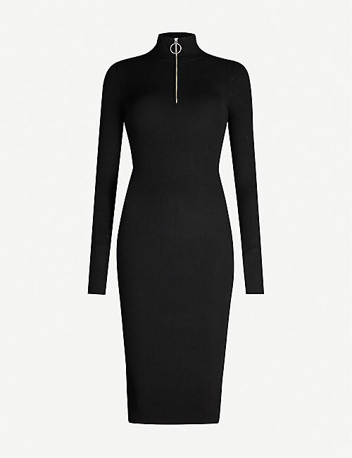 ALLSAINTS Ribbed knitted midi dress