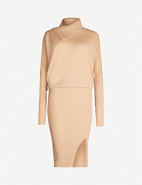 ALLSAINTS Sofi bodycon wool and cashmere-blend dress
