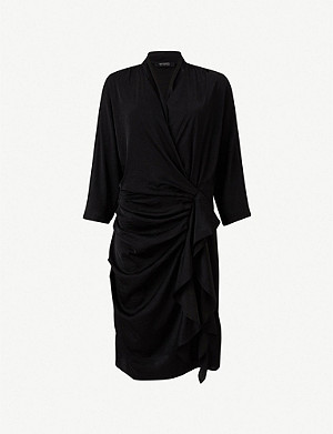 ALLSAINTS Issey wrap-over crepe dress