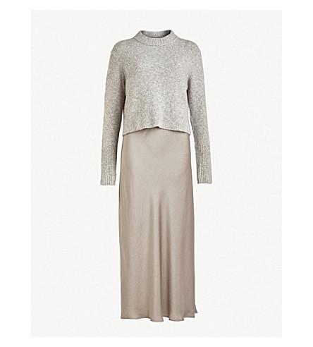 bf114119764 ALLSAINTS Tierny knitted dress (Tin+greymarl p