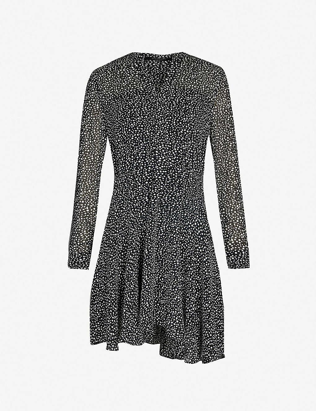 51976537c58 Martina splash-print crepe mini dress - Blackwhite ...