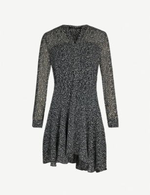 ALLSAINTS Martina splash-print crepe mini dress