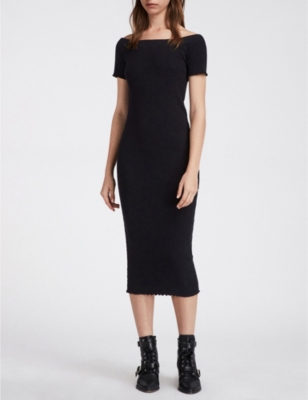 c80201b7feef ALLSAINTS - Lora stretch-cotton dress