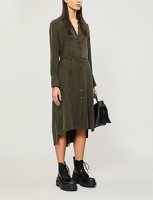 ALLSAINTS Anya twill shirt dress
