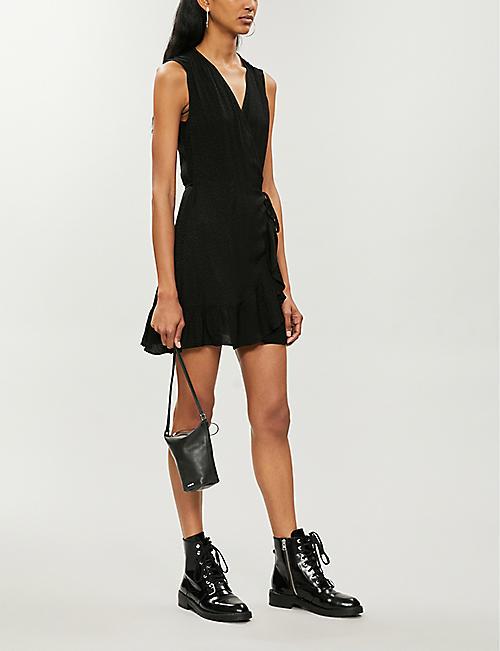 398650a241 ALLSAINTS Krystal leopard-jacquard woven dress. Quick Shop