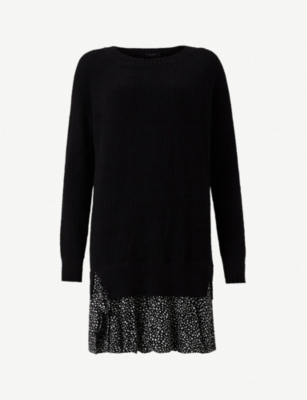 ALLSAINTS Nia relaxed-fit cotton panelled dress