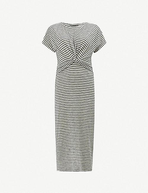 e222ff3a6d ALLSAINTS Paloma striped short-sleeved dress
