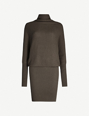 ALLSAINTS Ridley wool and cashmere-blend dress