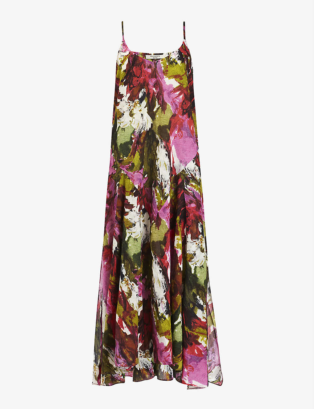 ALLSAINTS: Essie Expressive floral cotton maxi dress