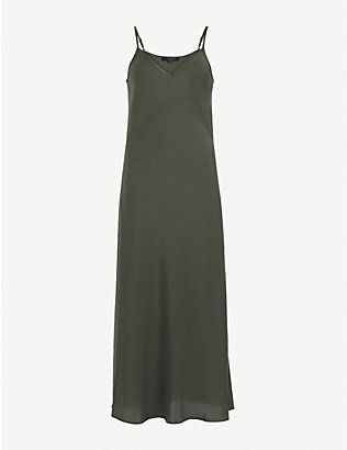 ALLSAINTS: Tierney crepe slip dress