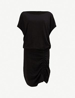 ALLSAINTS Tavi ruched cotton-blend dress