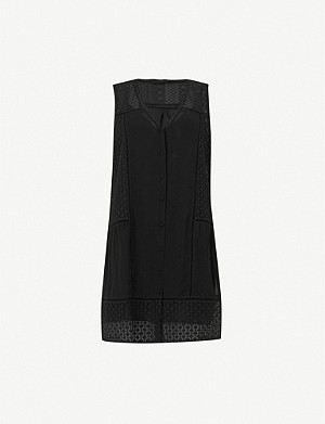 ALLSAINTS Manie lace and crepe dress