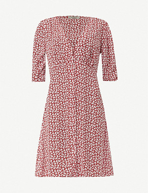 ALLSAINTS Kota Scatter floral-print crepe mini dress