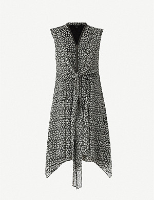 ALLSAINTS Jayda Scatter floral-print V-neck crepe mini dress