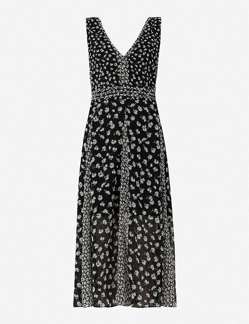 b696eff57641f ALLSAINTS - Macella Scatter floral-print flared crepe dress ...