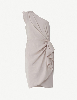 ALLSAINTS Lexi sleeveless ruffled satin mini dress