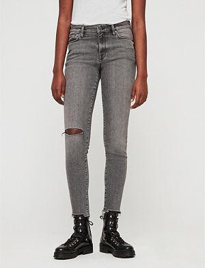 ALLSAINTS Grace Destroy high-rise ripped skinny jeans aa72791de