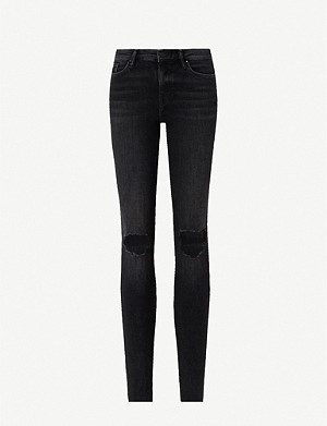 ALLSAINTS Grace ripped skinny high-rise jeans