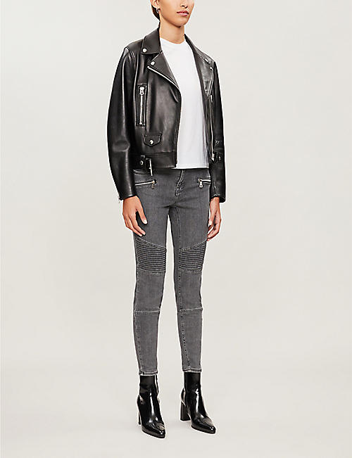 ALLSAINTS Grace cropped skinny high-rise jeans