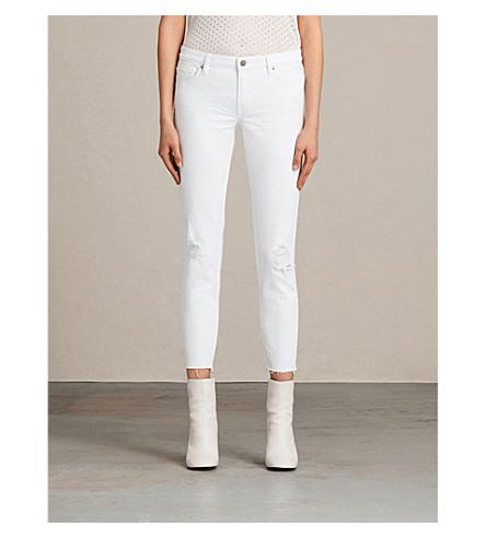 Allsaints Cottons Mask Skinny Low-Rise Jeans