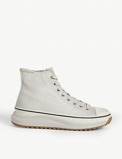 ALLSAINTS: Osun high-top leather trainers