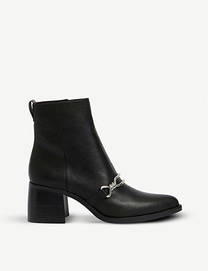 ALLSAINTS Rhye buckled heeled leather ankle boot