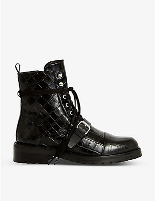 ALLSAINTS: Donita leather biker boots