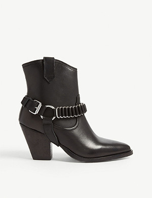 ALLSAINTS Rolene chain-embellished leather boots