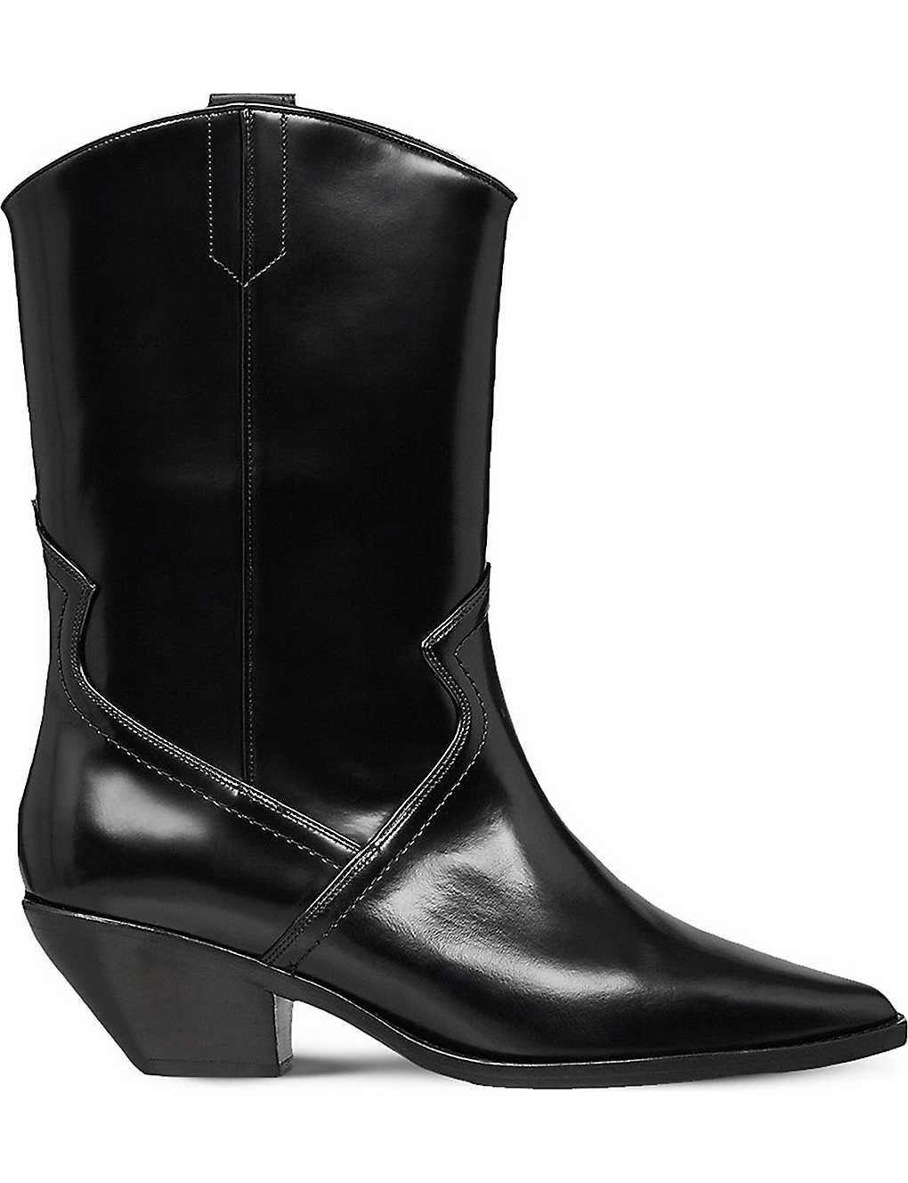 6fc17a1895c ALLSAINTS - Evi leather cowboy boots | Selfridges.com